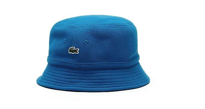 dfcfd359 Lacoste Rk8490 Men's Pique Bucket Hat Cap in Delta Blue (Medium) at ...