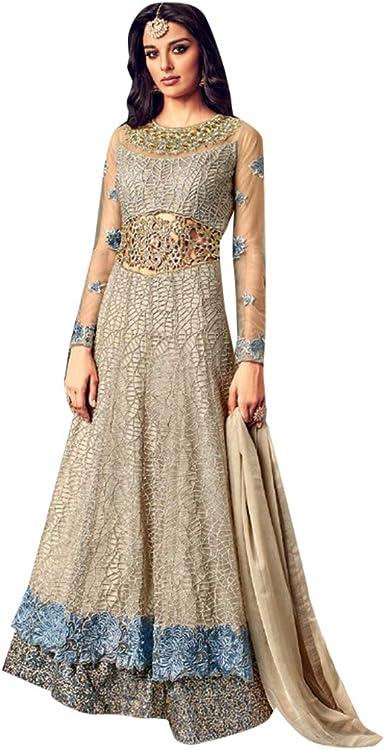 Women Girls Semi Stitch Cotton Fabric Party Wear New Best Selling Dress Material