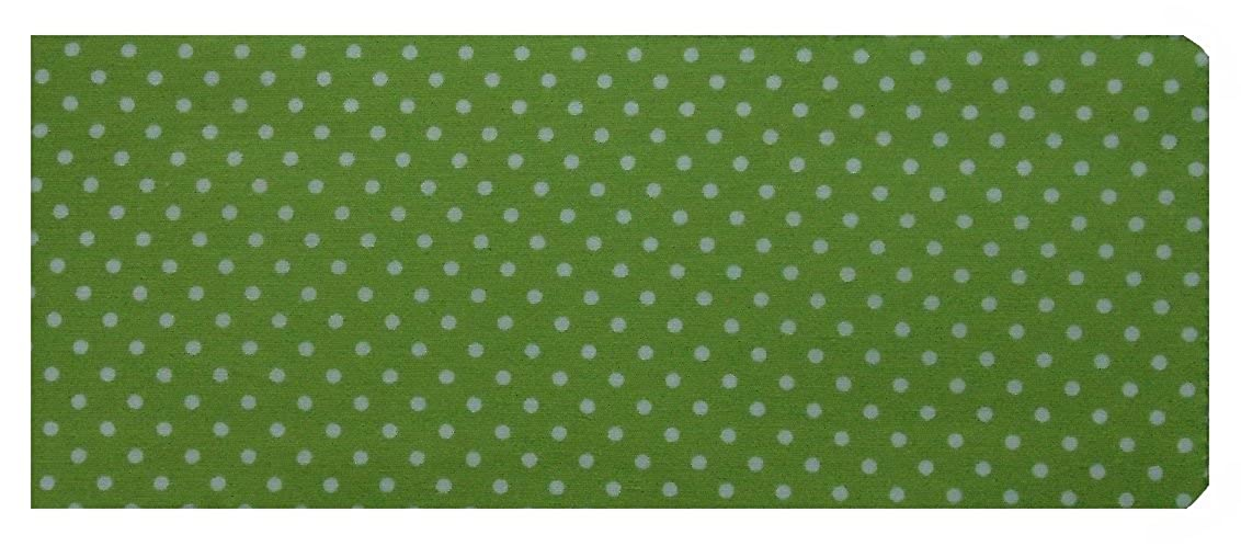Mini Lime Green Polka Dot Print Chequebook Cover - Cotton Finish MPLCB048