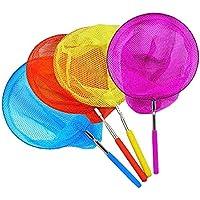 4PCS Kids Telescopic Butterfly Net Fishing Nets Insect Net Extendable 34 Inch