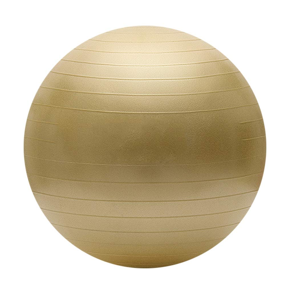 Exercise Ball Thick Anti-Burst Exercise Ball Exercise Gym Ball Beginner Balance Workout Fitness Ideal for Yoga Pilates or Birthing Therapy (Color : Red Gold, Size : 75cm)