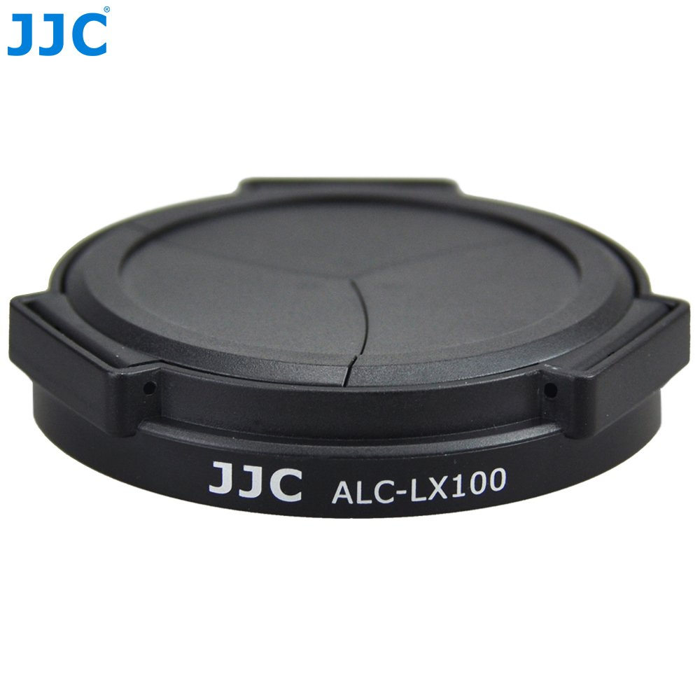 JJC ALC-LX100 Auto Open and Close Lens Cap For Panasonic LUMIX DMC-LX100 LEICA D-LUX(Typ 109) Camera (Black)