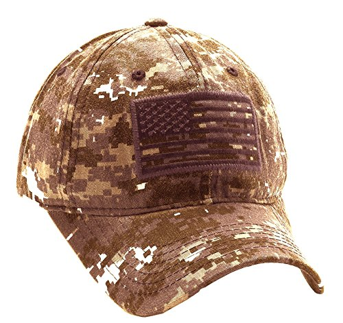 64c0d8de2bd USA American Flag Baseball Cap Military Army Operator Adjustable Hat  (Desert Camo) - Buy Online in Oman.