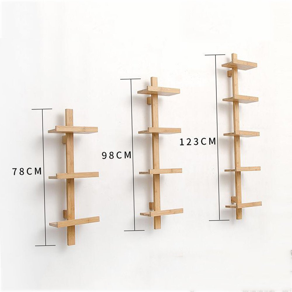 Shelves MEIDUO Storage Rack Wood Wall Mounted Organizer for Bedroom, Living Room, Bathroom, Kitchen, Office and More 3-Tier,4-Tier,5-Tier (Size : 3 layers) by Shelves (Image #4)