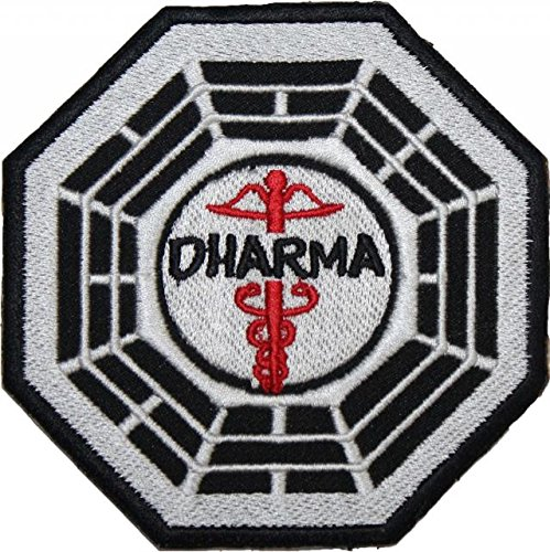 LOST DHARMA The Staff Station EMBROIDERED PATCH Badge Iron-on, Sew On ()