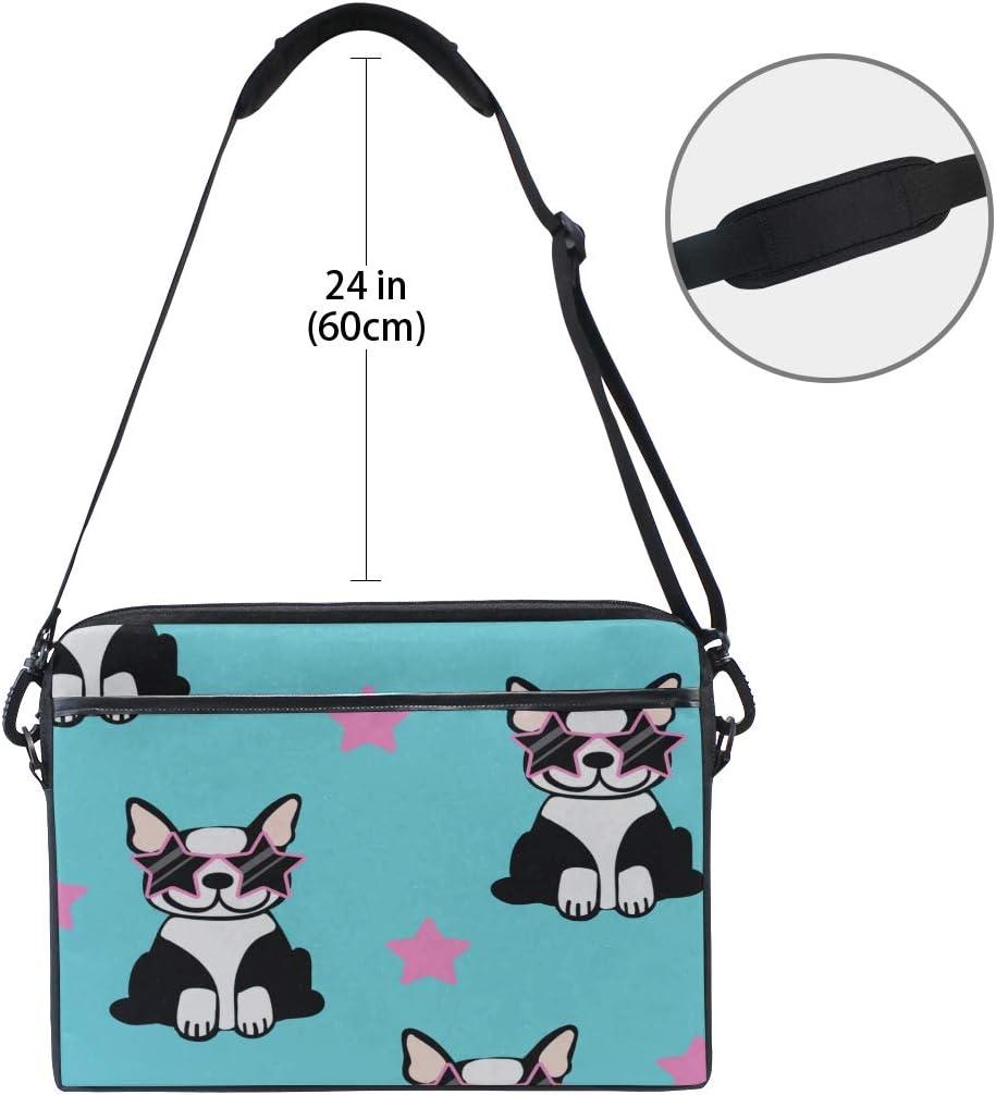 Briefcase Messenger Shoulder Bag for Men Women College Students Business People Office Workers Laptop Bag Cute Cartoon Dog 15-15.4 Inch Laptop Case