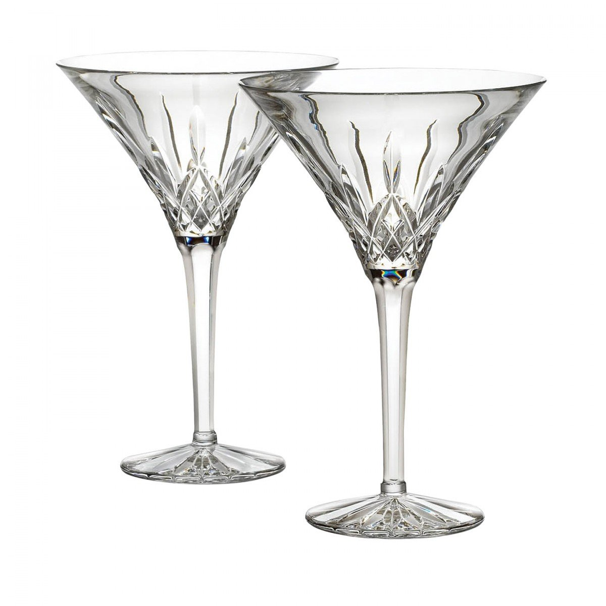 Waterford Crystal Lismore Tall Martini Glasses, Pair