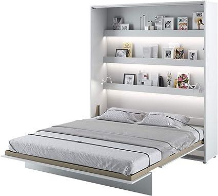 Mirjan24 Bed Concept - Cama Plegable de Pared, Incluye somier, Cama en V, Armario de Pared con Cama Plegable integrada