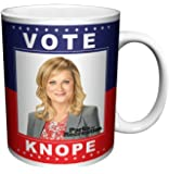 Parks and Recreation Leslie Knope (Amy Poehler) Vote Knope Workplace Comedy Tv Television Show Ceramic Gift Coffee (Tea, Cocoa) 11 Oz. Mug