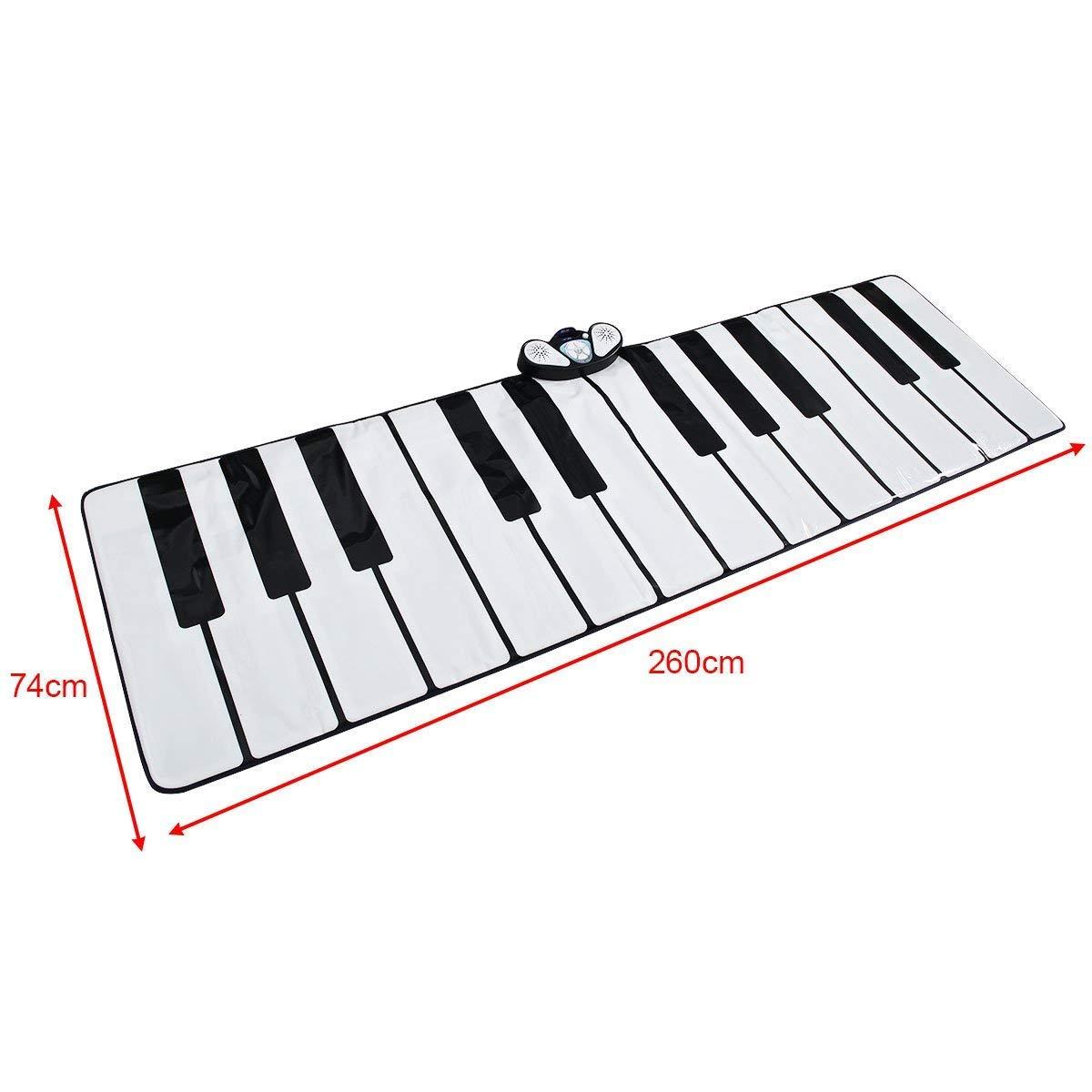 WEALTH Klaviertastatur-Gamepad, Play-Record-Playback-Demo-Modus, Party Dance Music Fußmatte