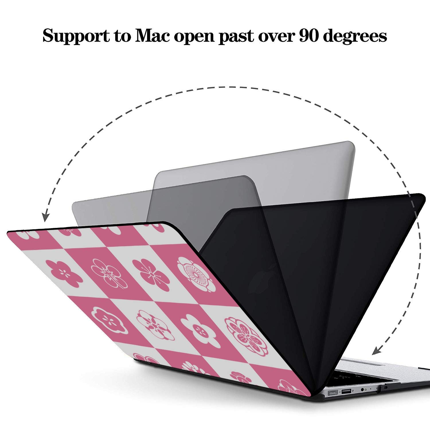 MacBook Pro Protector Summer Romantic Love Pear Cat Green Leaf Plastic Hard Shell Compatible Mac Air 11 Pro 13 15 MacBook Case Protection for MacBook 2016-2019 Version