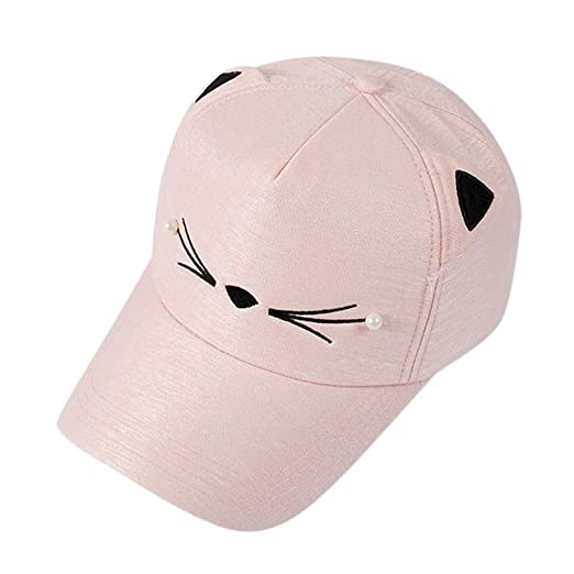 0540560280e Baseball caps chaofanjiancai Visor Hats Men Women Sport Outdoor Summer  Pearl Cute Cat Ears at Amazon Women s Clothing store