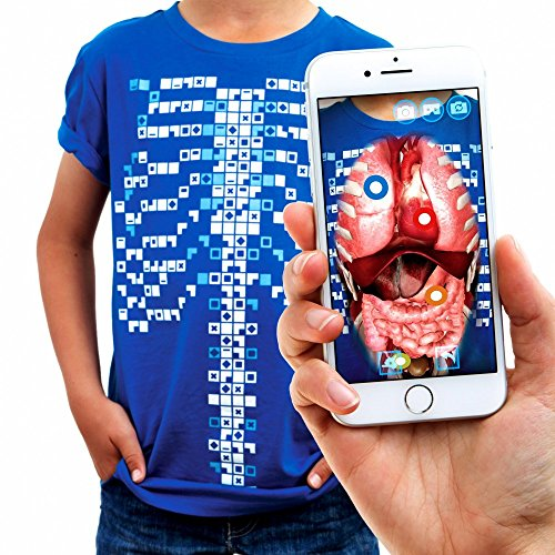 Curiscope Virtuali-Tee: Educational Augmented Reality T-Shirt Anatomy