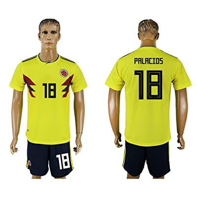 JUAN 2018 World Cup Colombia National Team #18 Soccer Jersey