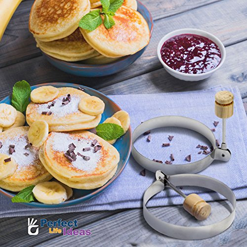 Egg Rings Stainless Steel 2 - Make Pancakes Burgers Omelettes Benedict Eggs Master Chef Surgical Round Molds Life Ideas
