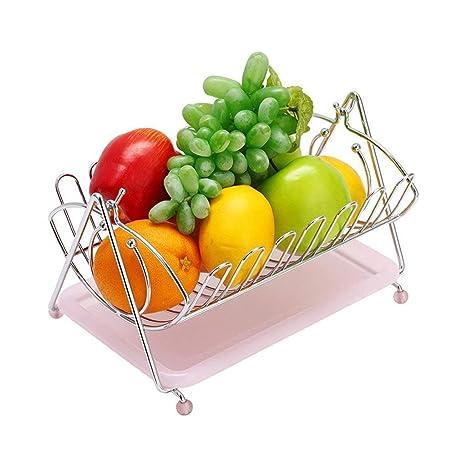 QQXX Fruit Baske Creative Frutero Plegable de Acero ...