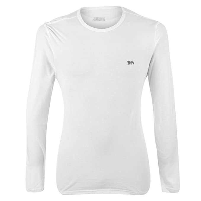 Shirt Rond Homme Blanc Manches Col Longues T Lonsdale S1wq66