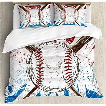 Amazon Com Brandream Kids Boys Baseball Bedding Set