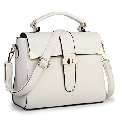 Micom Female Bag Korean Style Turn-lock Pu Leather Tote Cross Body  Messenger Shoulder Handbag b358f55bae300