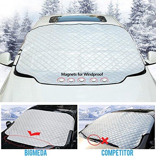 JFUNE Couverture Pare-Brise Voiture B/ÂCHE DE Protection Auto Pare-Brise Anti-Neige Anti-Givre en Hivers Anti UV
