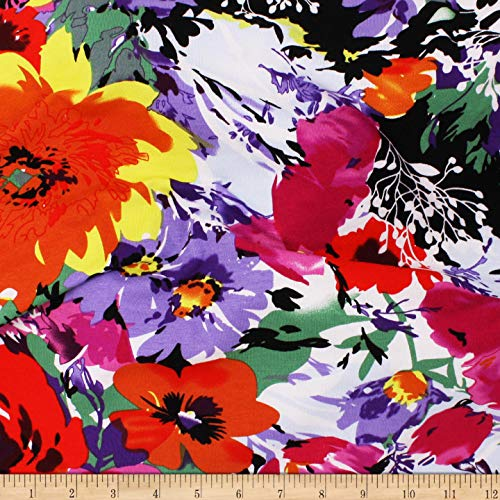 004de92bdb6b Abstract Butterfly Artisan Created Lycra Spandex Knit Fabric