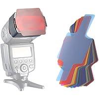 Neewer® - Lote de 20 películas de Colores para Flash Canon Nikon Sony Pentax, Olympus Metz y Todos los Tipos de Flash…