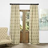 HPD HALF PRICE DRAPES JQCH-AS225092-84 Faux Silk Jacquard Curtain, Dart Natural, 50″ x 84″ Review