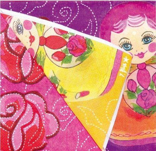 Papierservietten - Servietten - Matroschka - Matrjoschka - 20 Stü ck Partyservietten aus Papier mit russischen Motiven AS4HOME