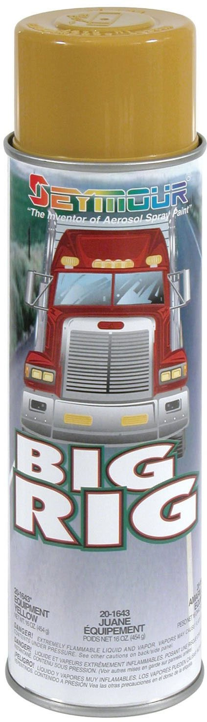 Seymour 20-1643 Big Rig Professional Coatings Spray Paint, Equipment Yellow