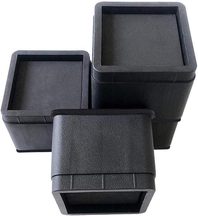 Knowled Elevadores de Muebles Ajustables Premium Elevador de Silla o Elevador de Sof/á Elevador de Cama 4 Pack, Negro Elevador de Mesa