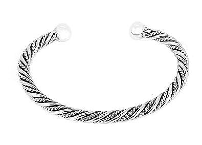 TreasureBay Mens Solid 925 Sterling Silver Bangle Bracelet Silver bangle for men