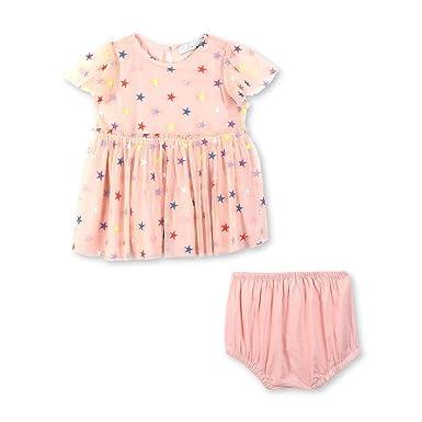 b102896ae Amazon.com: Stella McCartney Kids Baby Girl's Embroidered Stars Tulle Dress  (Infant): Clothing