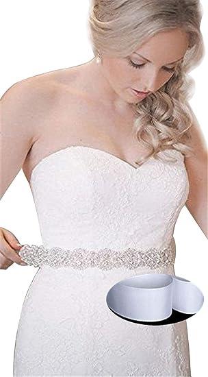 QueenDream - Cinturón para vestido de boda y novia, para boda, fiesta