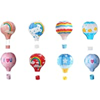 "Matissa Pack of 8 Hot Air Balloon Paper Lantern Wedding Party Decoration Craft Lamp Shade (8"" (20 cm))"
