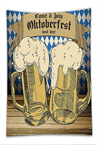 Ny Tourist Costume (Nalahome Fleece Throw Blanket Oktoberfest Decorations Collection Oktoberfest Design Famous Costume Tourist Attraction Travel Destination Blue Beige)