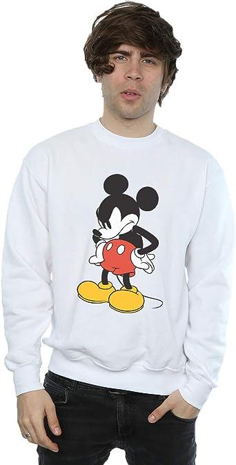 Disney Hombre Mickey Mouse Angry Look Down Camisa De Entrenamiento