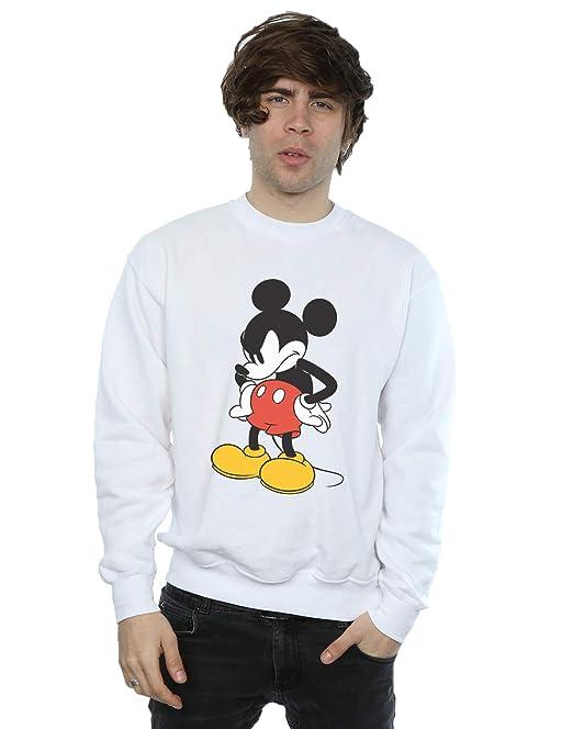Disney Hombre Mickey Mouse Angry Look Down Camisa De Entrenamiento: Amazon.es: Ropa y accesorios