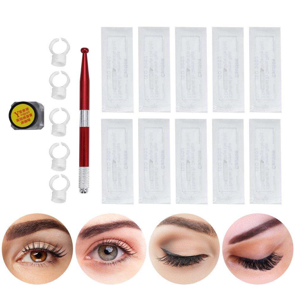 Amazon.com: Tattoo Permanent Makeup Pen Kit, 3D Microblading Eyebrow ...