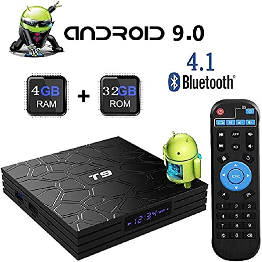 WXJHA Android TV Smart Box 9.0 TV Caja 4 GB de RAM DDR3 de 32 GB