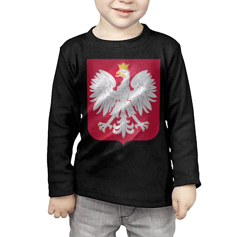 Fryhyu8 Baby Girls Childrens Poland Flag Printed Long Sleeve 100/% Cotton Infants T Shirts