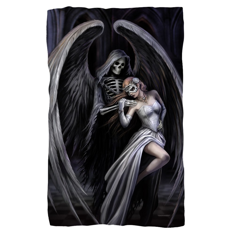 2Bhip Anne Stokes Fantasy Artist Grim Reaper Dance With Death Fleece Blanket White