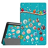 Fintie Slim Shell Case for Amazon Fire HD 8 (Previous Generation - 6th) 2016 Release, Super Slim Lightweight Standing Cover with Auto Wake/Sleep, Christmas 2