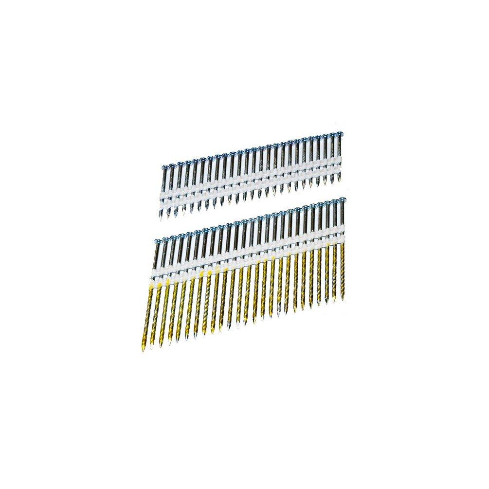 Holzmann – 4000 Nägel in Band PVC 21 ° von 90 x 3,05 mm T90 N90 Für ...