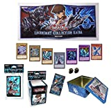 Yugioh Kaiba Blue Eyes White Dragon Bundle w/ BigNCollectibles Dice (Gameboard, Deck Box, Sleeves, Tin)