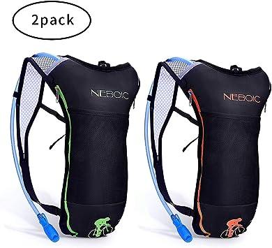 Amazon.com: Neboic Pack de 2 mochilas de hidratación con ...