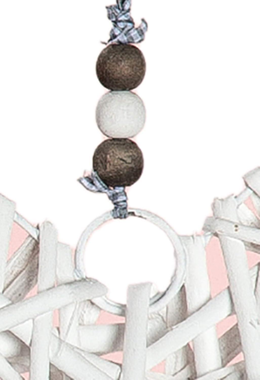 in Legno Decorazione da Finestra a Forma di Cuore per la Festa della Mamma 34 cm Colore: Bianco dekojohnson
