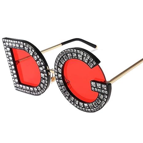 Yangjing-hl Gafas de Sol con Letras de Personalidad Gafas de ...