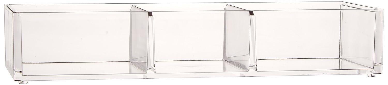 Danielle Enterprises Acrylic Base Compartment Organizer, Clear D3076