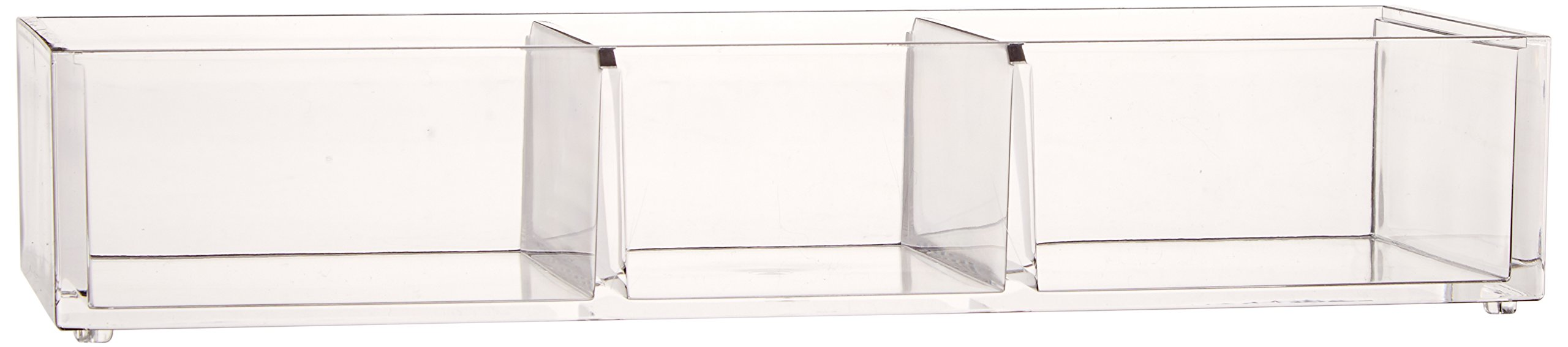 Danielle Enterprises Acrylic Base Compartment Organizer, Clear