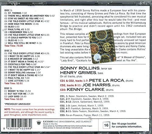 Live In Europe 1959: Complete Recordings by Essential Jazz Classics (Image #1)